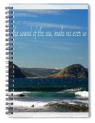 The Sound Of The Sea Spiral Notebook