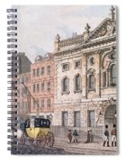 The South Front Of Ironmongers Hall, From R. Ackermanns Repository Of Arts 1811 Colour Litho Spiral Notebook