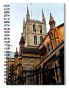The Southwark Cathedral Church London In Winter Spiral Notebook