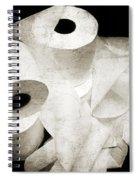 The Spare Rolls 2 - Toilet Paper - Bathroom Design - Restroom - Powder Room Spiral Notebook