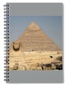 The Sphinx Guarding The Pyramid Spiral Notebook