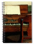 The Square Piano Spiral Notebook