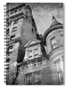 The Stafford Hotel - Grayscale Spiral Notebook