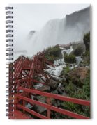 The Stairs To The Cave Of The Winds - Niagara Falls Spiral Notebook