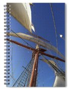 The Star Of India. Mast And Sails Spiral Notebook