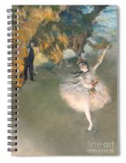 The Star Or Dancer On The Stage Spiral Notebook