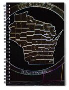 The State Of Wisconsin Spiral Notebook