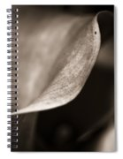 The Stately Lily Stands Fair Spiral Notebook