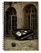 The Stone Sphere And Broken Grand Piano Spiral Notebook