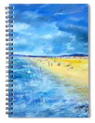 The Storm Arrives At The Beach Spiral Notebook