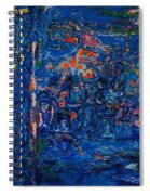 The Street Cafe Oil On Canvas Spiral Notebook