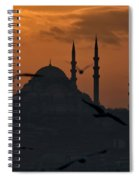 The Suleymaniye Mosque At Sunset Spiral Notebook