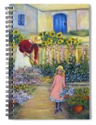 The Summer Garden Spiral Notebook