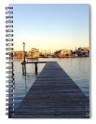 The Sun Begins To Set On Long Beach Island Spiral Notebook