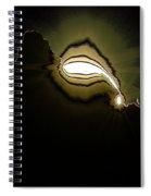 The Sun Over A Jagged Hill Spiral Notebook