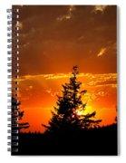 The Sun Retreats Spiral Notebook