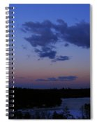 The Sunset Moon In Winter Spiral Notebook