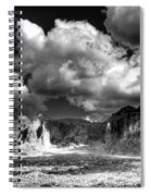 The Superstitions - Black And White  Spiral Notebook