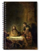 The Supper At Emmaus, 1648 Oil On Panel Spiral Notebook