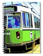 The T Trolley Car Boston Massachusetts 1990 Poster Spiral Notebook