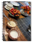 The Table Is Set - Y'all Come Spiral Notebook