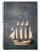 The Tall Ship Windy Spiral Notebook