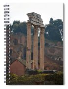 The Temple Of Castor And Pollux Spiral Notebook