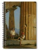 The Temple Of Poseidon. Paestum Spiral Notebook