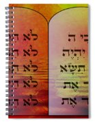 The Ten Commandments - Featured In Comfortable Art Group Spiral Notebook