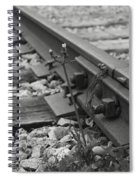 The Tenacity Of Nature Greyscale Spiral Notebook