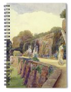 The Terrace At Berkeley Castle Spiral Notebook