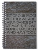The Test Of Our Progress Spiral Notebook