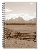 The Tetons In Sepia Spiral Notebook