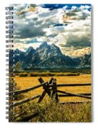 The Tetons Spiral Notebook