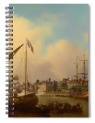 The Thames And Tower Of London On The King's Birthday Spiral Notebook