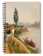 The Thames At Hampton Court Spiral Notebook