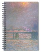The Thames With Charing Cross Bridge Spiral Notebook