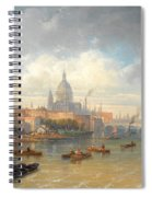 The Thames With Somerset House And St Pauls Cathedral Spiral Notebook