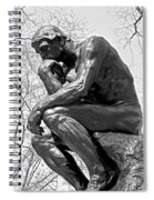 The Thinker In Black And White Spiral Notebook