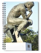 The Thinker Cleveland Art Statue Spiral Notebook