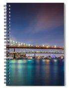 The Three Bridges Spiral Notebook