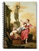 The Three Daughters Of Cecrops Discovering Erichthonius Spiral Notebook