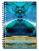 The Time Traveler - Surreal Fantasy Art By Sharon Cummings Spiral Notebook