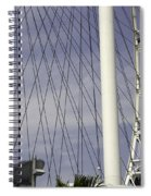 The Top Section Of The Marina Bay Sands As Seen Through The Spokes Of The Singapore Flyer Spiral Notebook