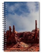 The Totems Monument Valley Spiral Notebook