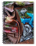 The Train And The Tree Spiral Notebook
