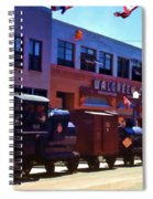 The Train In The Parade Spiral Notebook