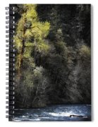 The Tree Across The River Spiral Notebook