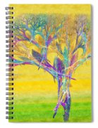 The Tree In Spring At Midday - Painterly - Abstract - Fractal Art Spiral Notebook
