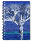 The Tree In Winter At Dusk - Painterly - Abstract - Fractal Art Spiral Notebook